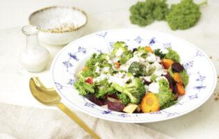 Varm salat med grønkål og rodfrugter10